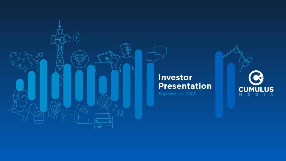 Investor Presentation, September 2021